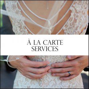 A La Carte Wedding day coordinator services