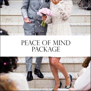 Peace of Mind Wedding Day coordinator services.