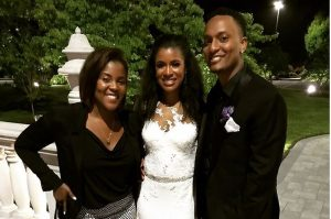 The wedding of Sylvonne and Elijah.