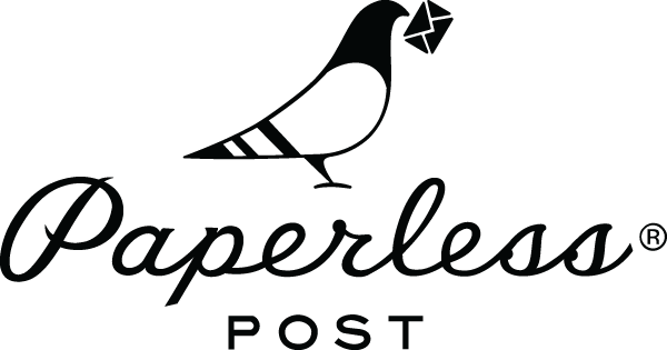 The logo for Paperless Post.