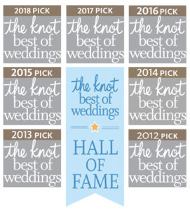 Annual award listing from The Knot.