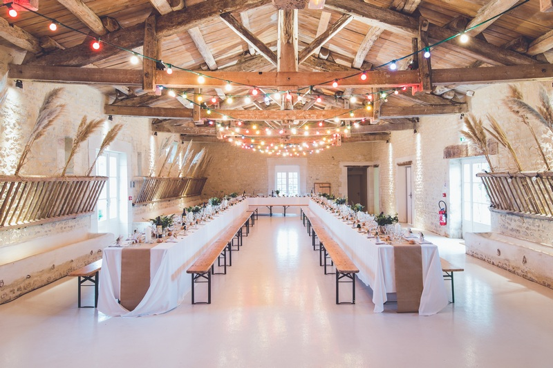 The inside of a wedding hall.